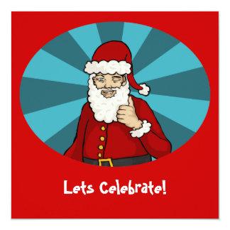 "Thumbs Up, Santa - 5.25""x5.25"" invitation"