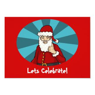 "Thumbs Up, Santa - 7""x5"" invitation"