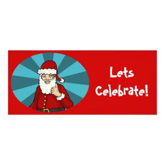 "Thumbs Up, Santa - 9.25""x4"" invitation"
