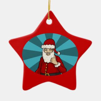 Thumbs Up, Santa -  ornament