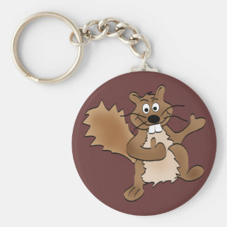Thumbs Up Squirrel Keychain