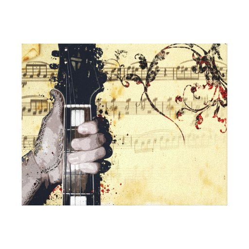 Thumbs up to Music Canvas Prints