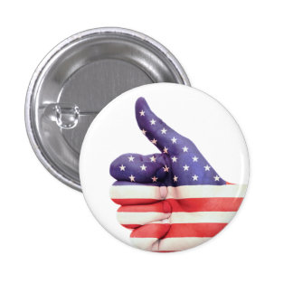 Thumbs Up USA 1 Inch Round Button