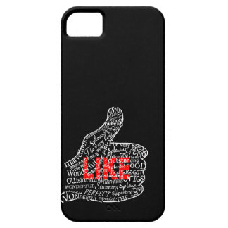 Thumbs up with LIKE text design iPhone 5 Covers