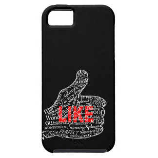Thumbs up with LIKE text design iPhone 5 Cover