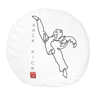 THUMP TAEKWONDO DWICHAGI back kick Pouf