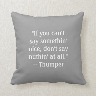 Thumper Quote American MoJo Pillows