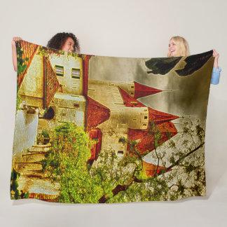 Thun Castle, Switzerland Acrylic Art Fleece Blanket