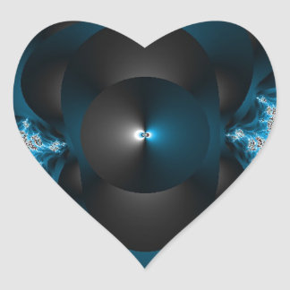 Thunder and Lightening Galaxies Heart Sticker