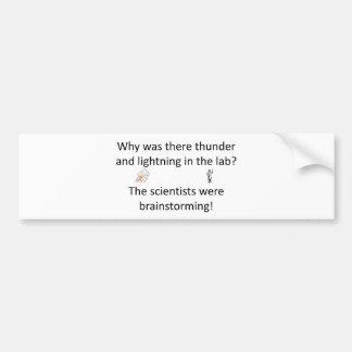 Thunder and Lightning Joke Bumper Sticker