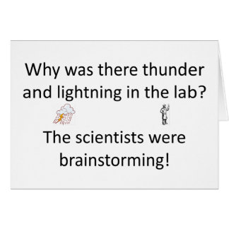 Thunder and Lightning Joke Card