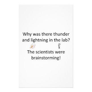 Thunder and Lightning Joke Stationery