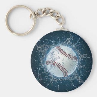 Thunder Baseball Basic Round Button Keychain