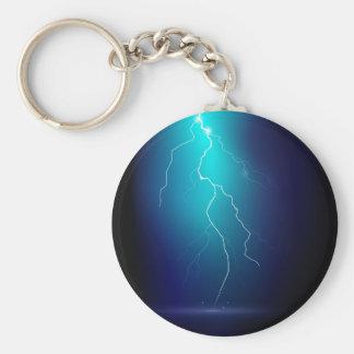 Thunder Basic Round Button Keychain