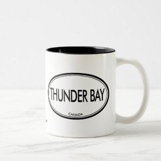Thunder Bay, Canada Two-Tone Coffee Mug