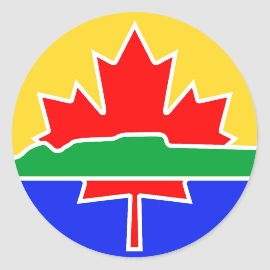 Thunder Bay flag Classic Round Sticker