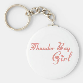 Thunder Bay Girl Basic Round Button Keychain