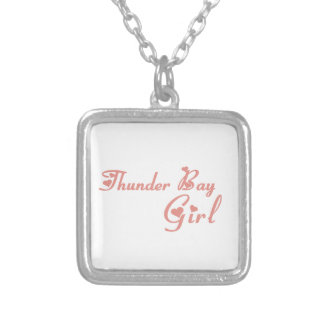 Thunder Bay Girl Silver Plated Necklace