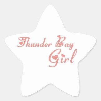Thunder Bay Girl Star Sticker