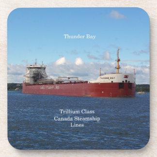 Thunder Bay set of 6 hard plastic coasters