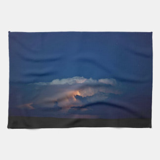 Thunder Boomer Over Wyoming Skies Kitchen Towel