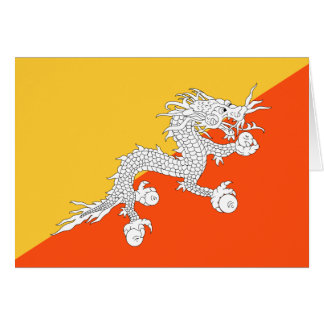 Thunder Dragon Flag of Bhutan Card