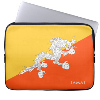 Thunder Dragon Flag of Bhutan Laptop Sleeve