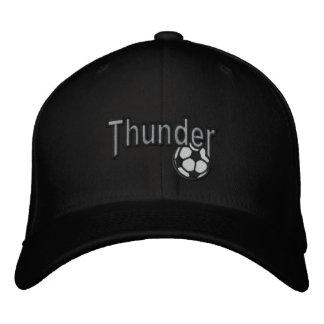 Thunder embroidered hat