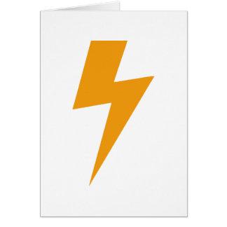 Thunder Energy Yellow Print Card
