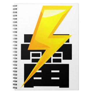 Thunder fret letter note book