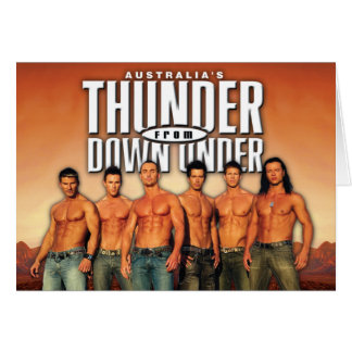 Thunder From Down Under Notecards Card
