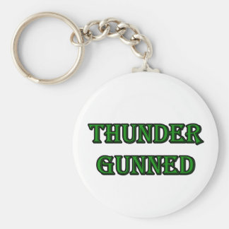 Thunder Gunned Basic Round Button Keychain