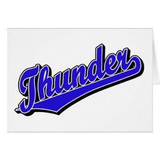 Thunder in Blue Card