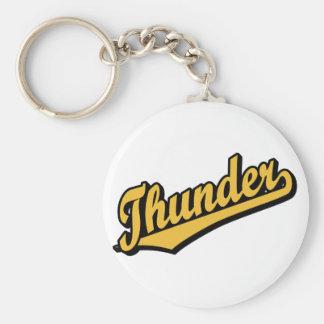 Thunder in Gold Basic Round Button Keychain