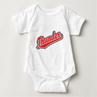 Thunder in Red and Gray Baby Bodysuit