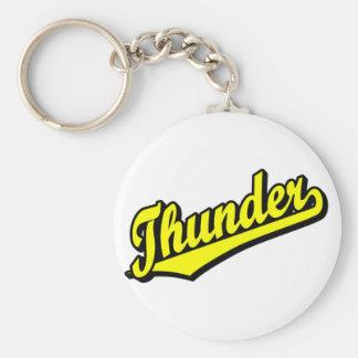 Thunder in Yellow Basic Round Button Keychain
