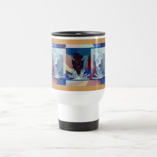 Thunder & Lightning-by Kathy Morrow brown buffalo Travel Mug