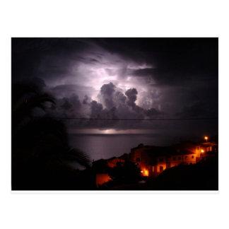 Thunder lightning Garajau Madeira Postcard