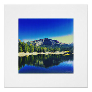 Thunder Mountain over Silver Lake Poster