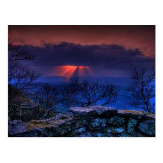 thunder ridge blue postcard
