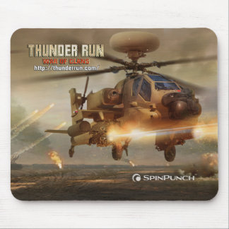 Thunder Run Apache Mouse Pad