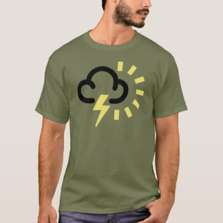 Thunder Storm: Retro weather forecast symbol T-Shirt