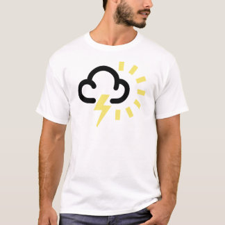 Thunder Storm: Retro weather forecast symbol T-Shirt