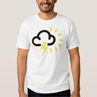 Thunder Storm: Retro weather forecast symbol T-shirts