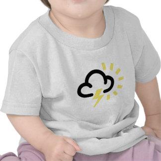 Thunder Storm: Retro weather forecast symbol Shirt