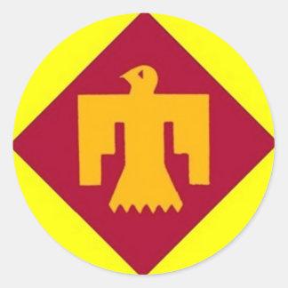 Thunderbird 45th classic round sticker