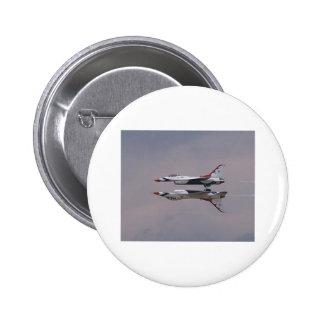 Thunderbird Mirror Fly By 2 Inch Round Button