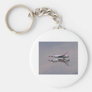 Thunderbird Mirror Fly By Basic Round Button Keychain