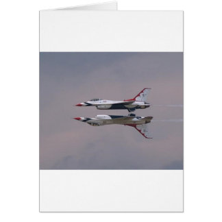 Thunderbird Mirror Fly By Greeting Card