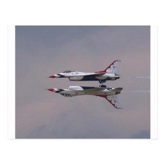 Thunderbird Mirror Fly By Post Card